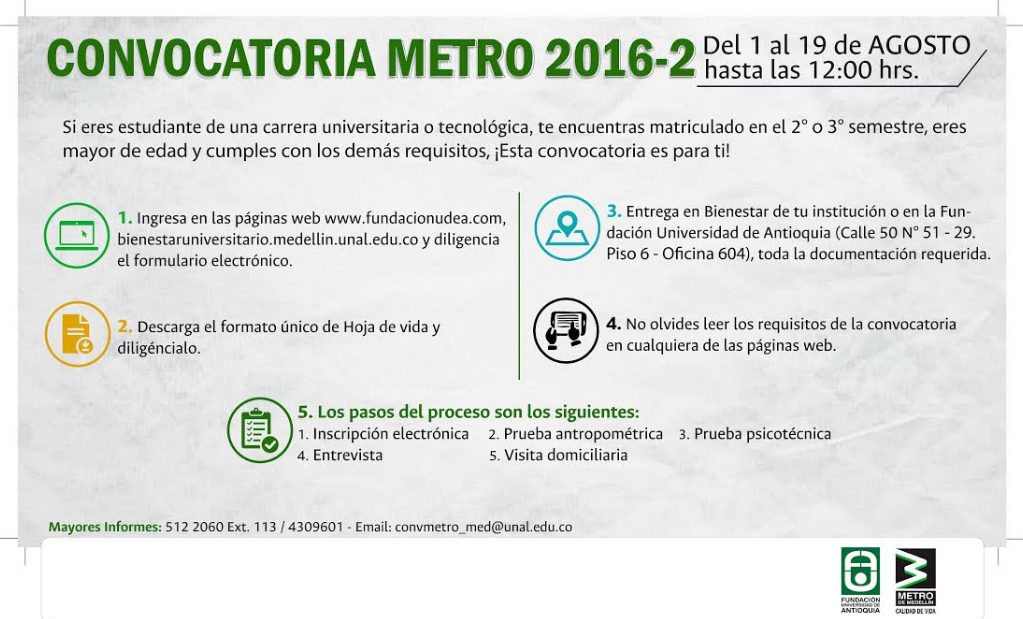 Convocatoria Conductores Metro
